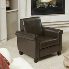 Microfiber Club Chair With Ottoman How To Make A Sex Living Room Furniture Chocolate Brown Leather | Ebay