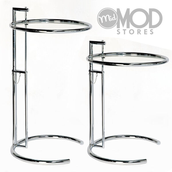 Mid Century Side Table Modern End Table Steel And Glass
