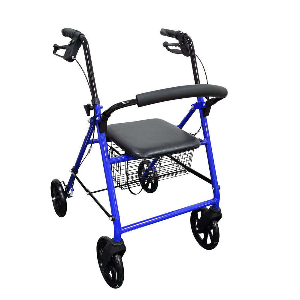 Durable 4 Wheel Rollator 8 Wheels by Drive Medical Adult