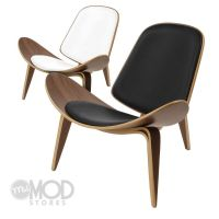 Mid Century Danish Shell Chair Modern Accent Plywood ...