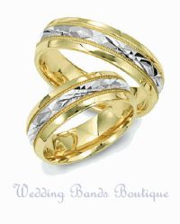 14K TWO TONE WHITE YELLOW GOLD HIS HERS MATCHING WEDDING ...