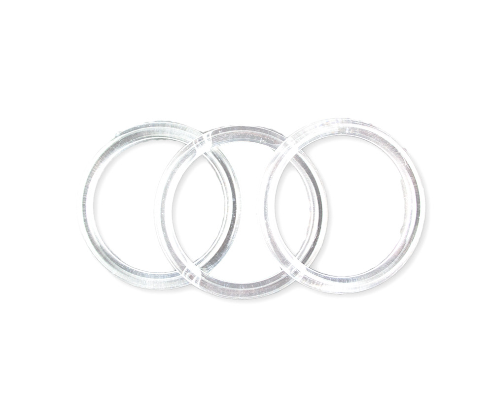 5 inch Clear Plastic Acrylic Rings 5/16 inch Thick 12