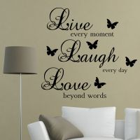 Live Laugh Love Words Wall Art Sticker Quote | Living Room ...