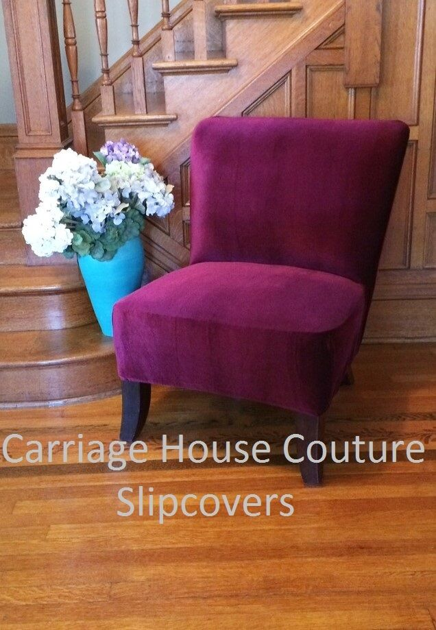 accent chair teal design photo slipcover cranberry velvet cover for slipper chair,armless chair,accent | ebay