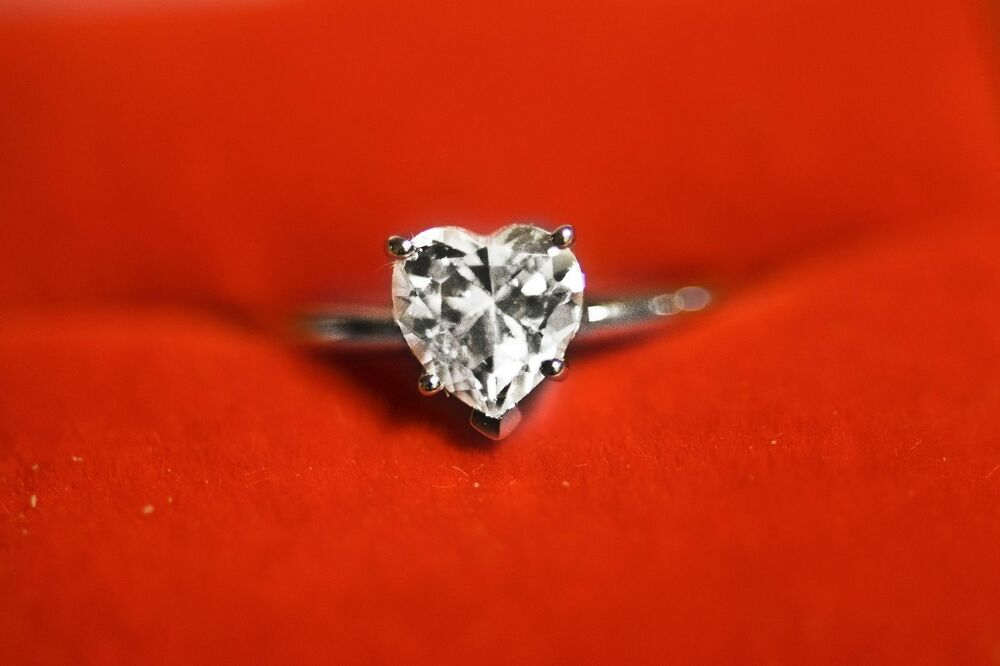 15 CT Brilliant Heart Shaped Cut Solitaire Engagement