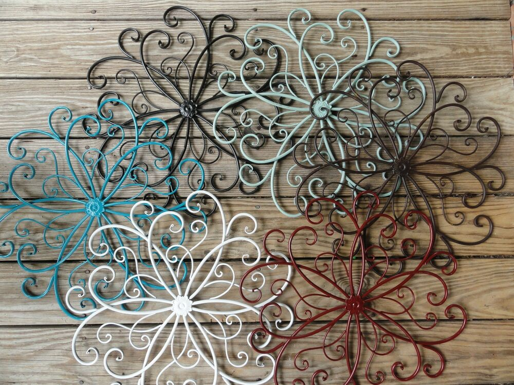 Cottage Chic, Metal Wall Decor, Beachy Beach Turquoise