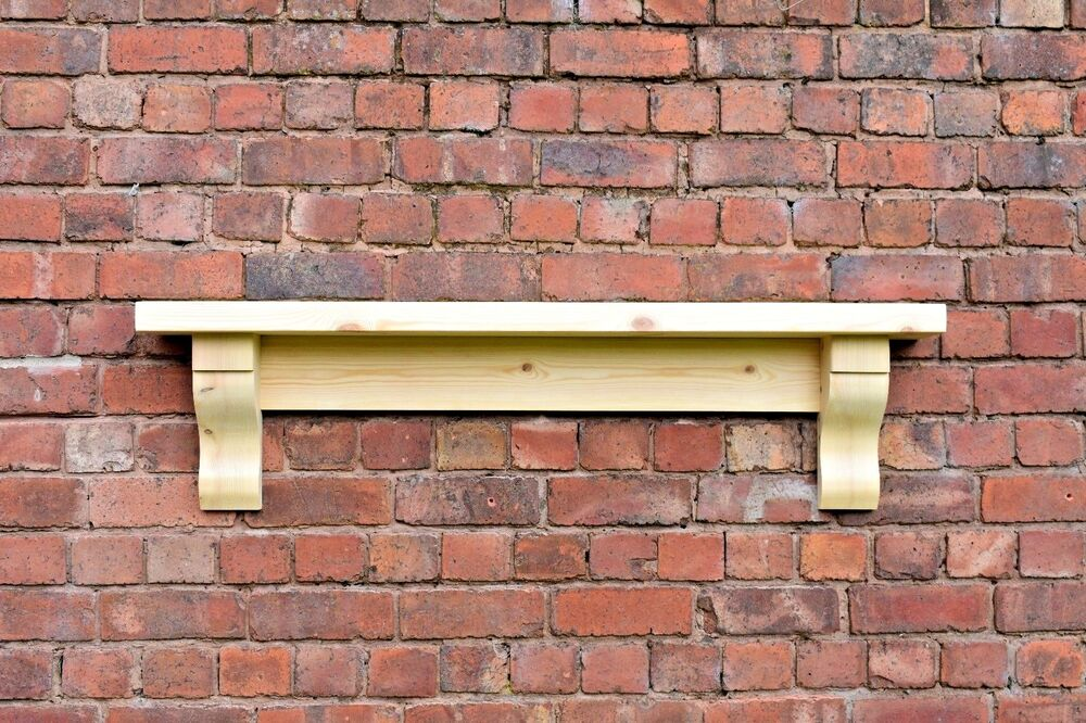 Chunky Solid Pine Mantle Pine Mantel Shelf With Corbels