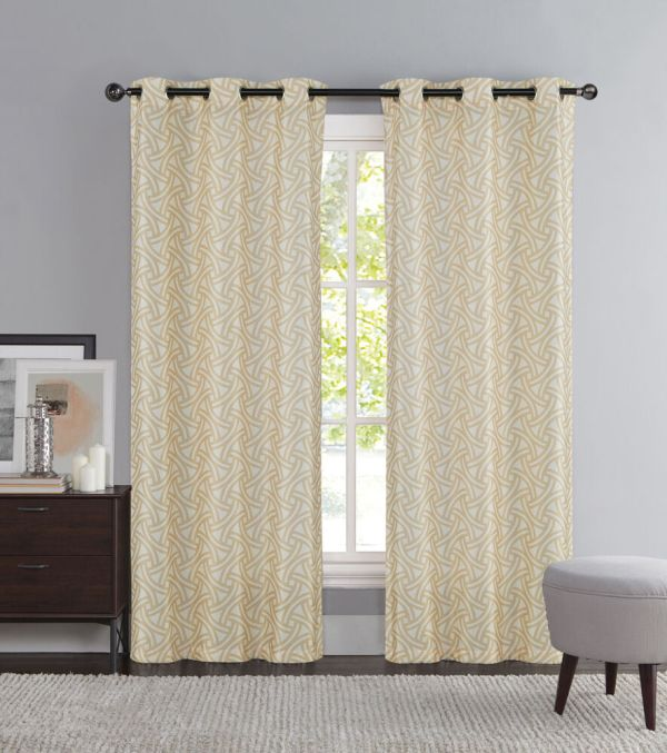 Ivory Grommet Curtain Panels