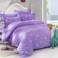 Purple Star Moon Double Queen King Size Bed Set ...