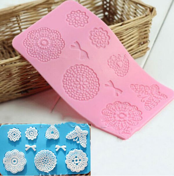 Silicone Lace Mat Butterfly Fondant Sugar Craft Mould Cake