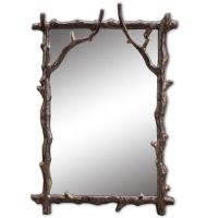 Branch Decorative Wall Mirror Rustic Cabin Lodge Decor ...