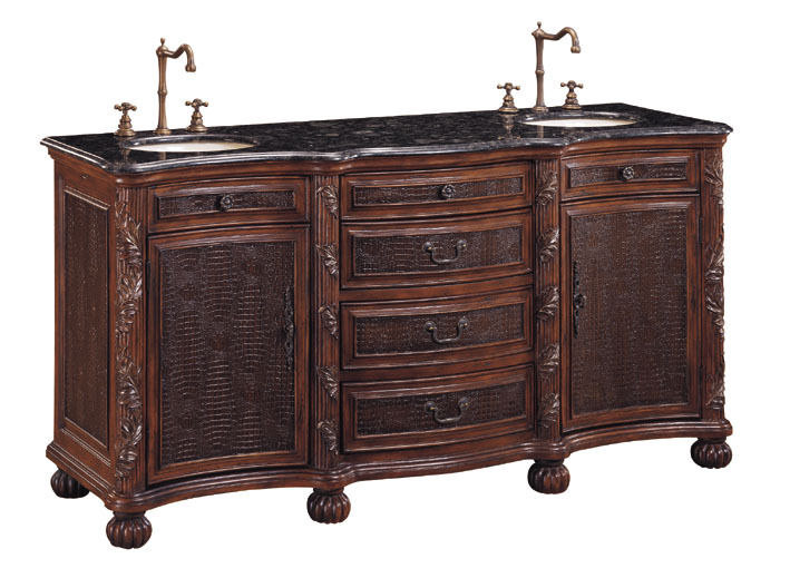 6 4 Drawer 2 Door Chest Bathroom Vanity Double Sink
