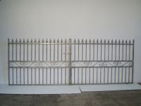 Strong wrought Iron double driveway iron gate 4 ft tall 12 ...