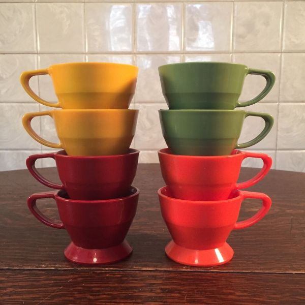 8 Vintage Solo Cozy Cup Plastic Coffee Mug Holders Green