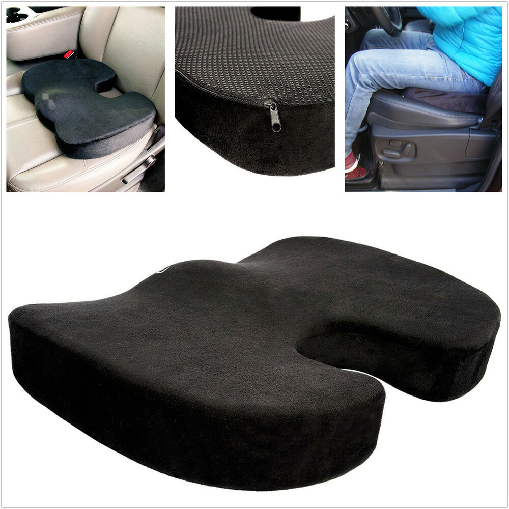 office chair with headrest american girl car truck comfort support space 100% memory foam seat cushion thicken travelling | ebay