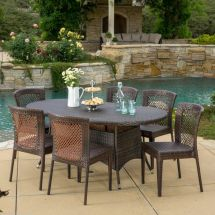 Outdoor Patio Furniture 7pc Multibrown -weather Wicker