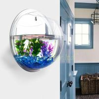Small Wall Mounted Acrylic Fish Tank Hanging Bowl Bubble ...