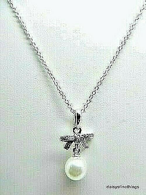 NEW AUTHENTIC PANDORA NECKLACE DELICATE SENTIMENTS PEARL CZ 390380CZ HINGED EBay