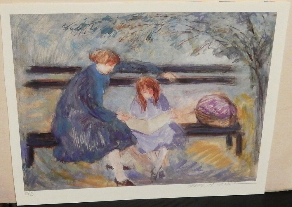 Barbara A Wood Quot Park Bench Quot Limited Edition Signed