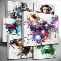 Choose your Marvel AVENGERS paint splatter CANVAS Wall Art ...