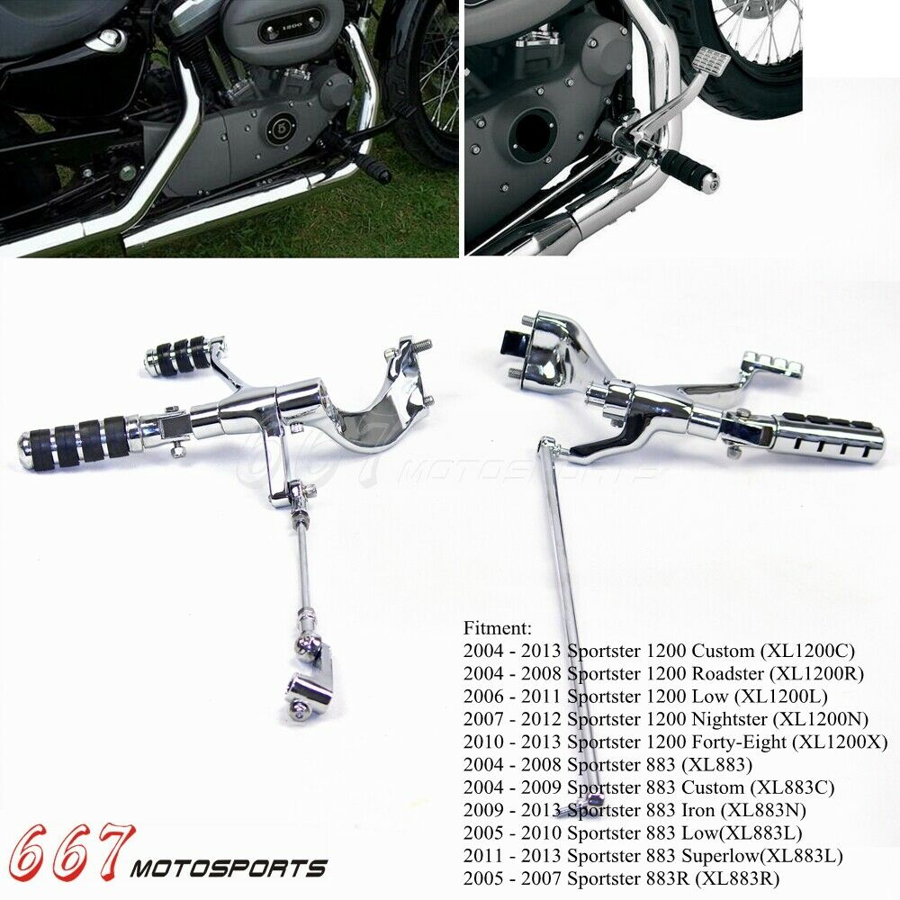 Chrome Footpeg Forward Controls Kit For 2005-2010