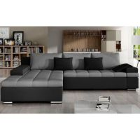 Corner Sofa Bed BANGKOK with Storage Container Faux ...