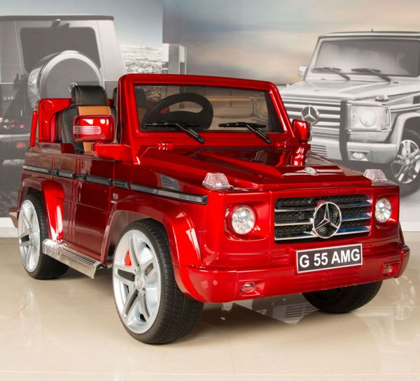 Red Mercedes G55 Amg 12v Kids Ride Car Battery Power Wheels With Rc & Remote
