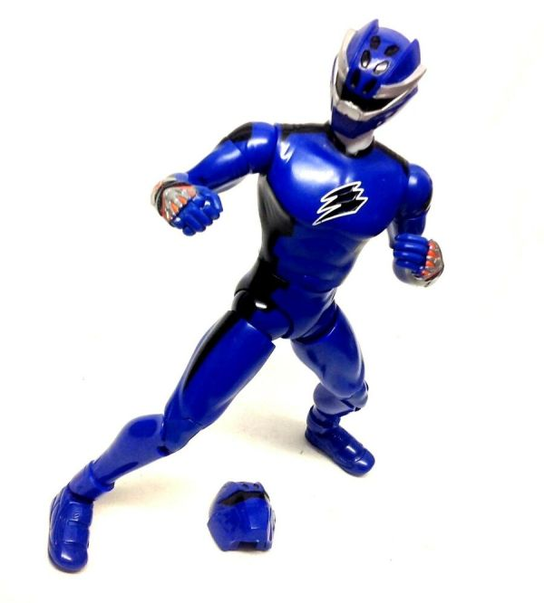 "12"" 1 6th Power Rangers Jungle Fury Toys Blue Tiger Ranger"