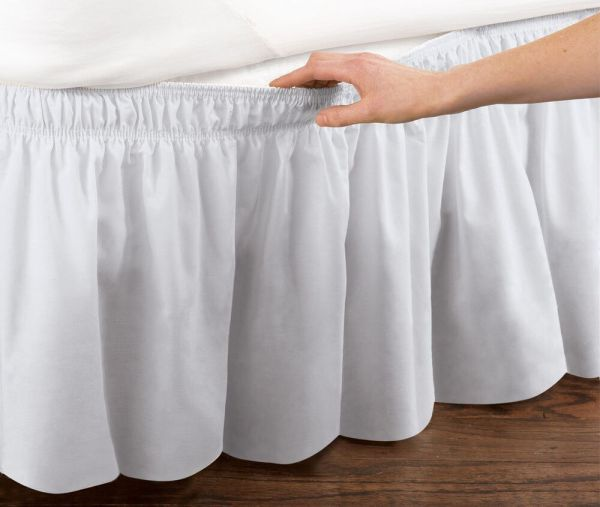 Wrap around Bed Skirts Dust Ruffles