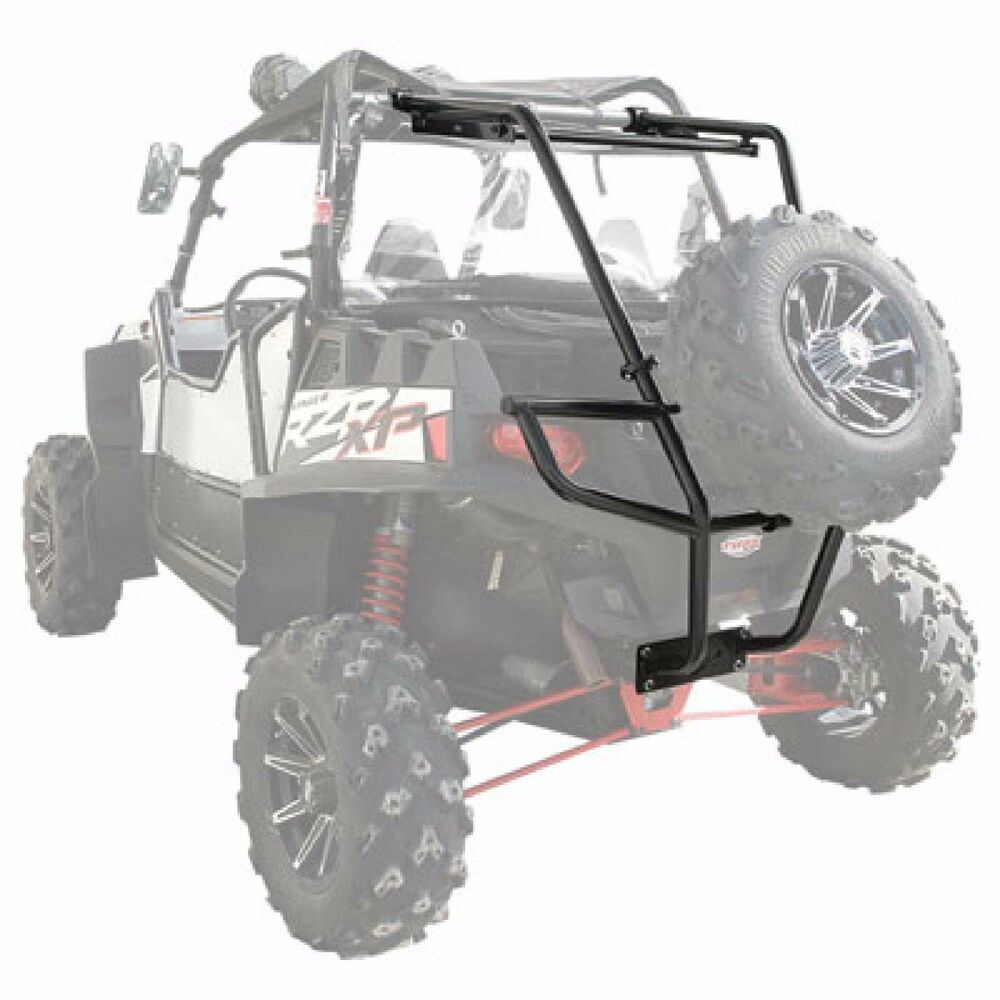 hight resolution of details about tusk utv rear bumper cargo rack spare tire mount polaris rzr 800 2007 2014
