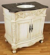 "33"" 2 Door Antique White Bathroom Vanity Sink Cabinet"