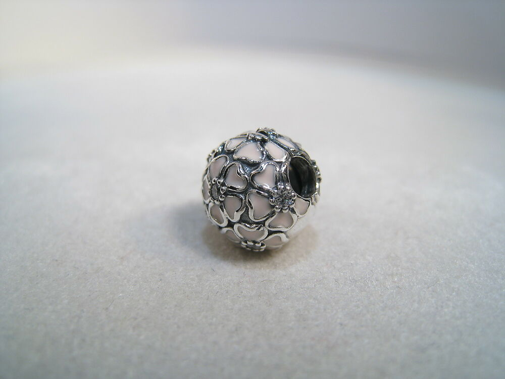 NEW Authentic Pandora Silver Charm Clip Cherry Blossom 791826EN40 EBay