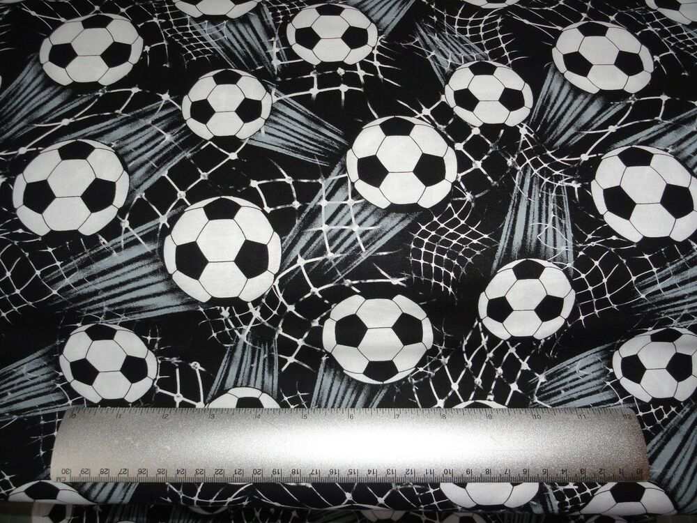 Soccer Ball Fabric Sports Fabric By The Yard Cotton