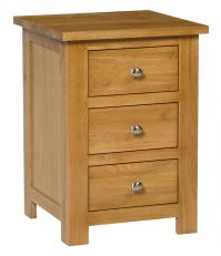 Small Oak Bedside Table | Narrow Side/Lamp Nightstand ...