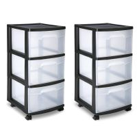 Sterilite 3 Drawer Cart Storage Plastic Box Organizer ...