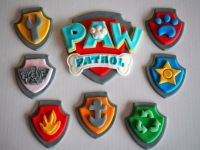 Large Paw Patrol BIRTHDAY CAKE LOGO & Edible Cupcake