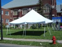 20 x 20 White Canopy Pole Tent Commercial Heavy Duty Party ...