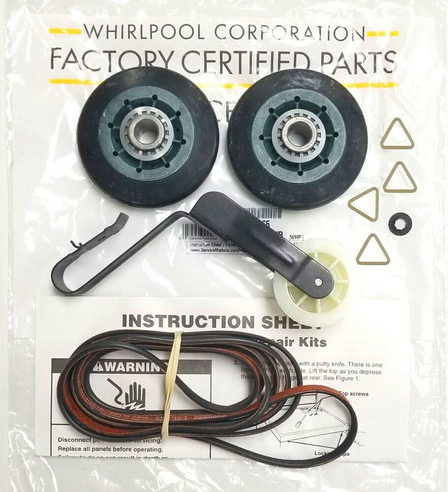 Whirlpool 279827 Dryer Drive Motor Appliancepartsproscom 4392065 Maintenance Repair Kit Belt Pulley Roller Auto Genuine Oem