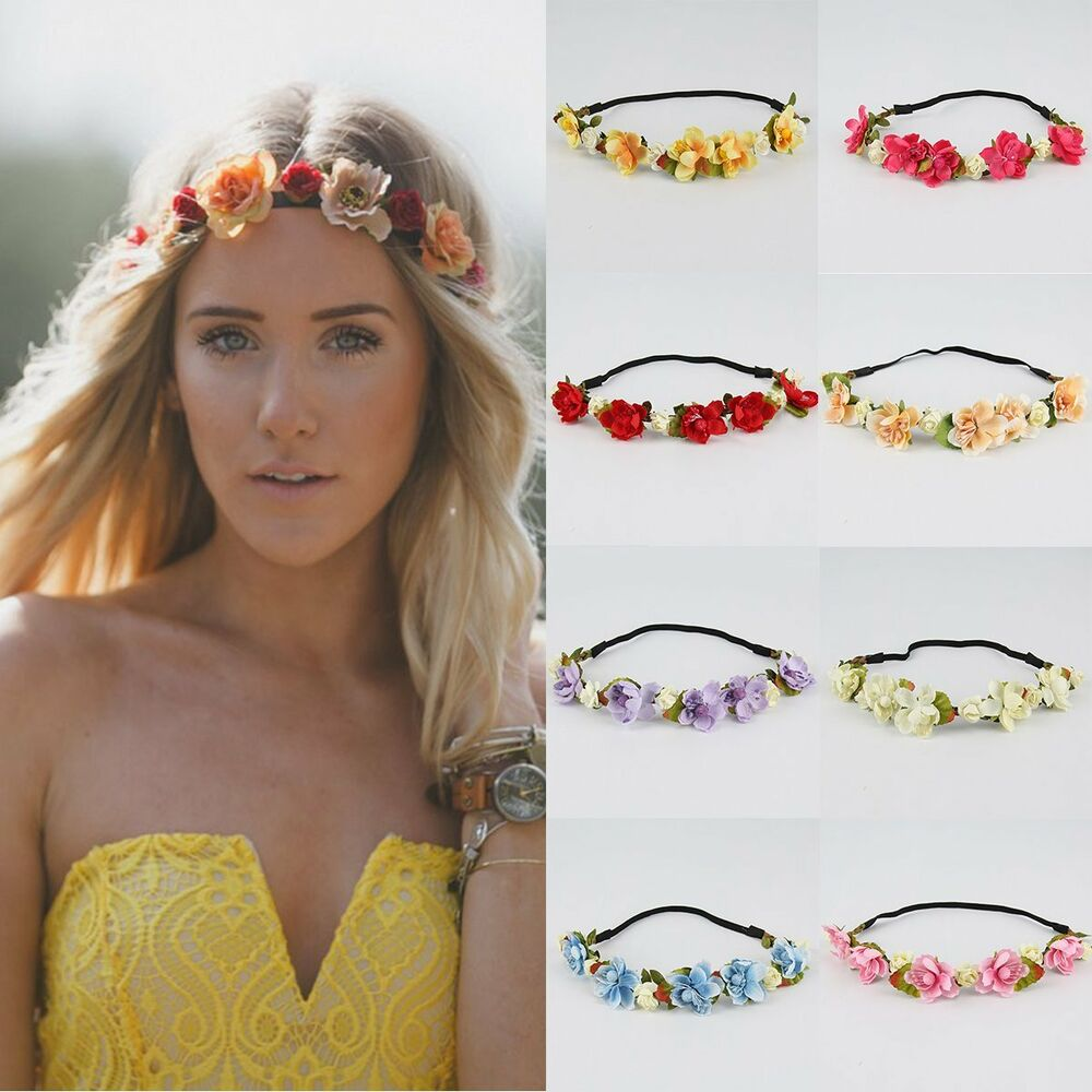 Boho Style Floral Flower Crown Party Wedding Hair Wreaths