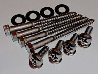 Complete M6x20mm TV Wall Mount Bracket Bolts & Lag Screws ...