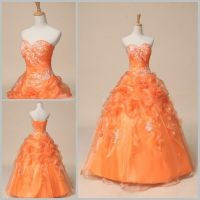 Cheap Formal Orange Prom Party Bridesmaid Dresses Ball ...