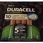 DURACELL AA Rechargeable NiMH 2400 mAh 1.2V Batteries 4 PACK DC1500 FRESH~NEW