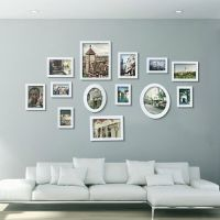White Multi Picture Photo Frame 13 Pieces Set Wall Frames ...