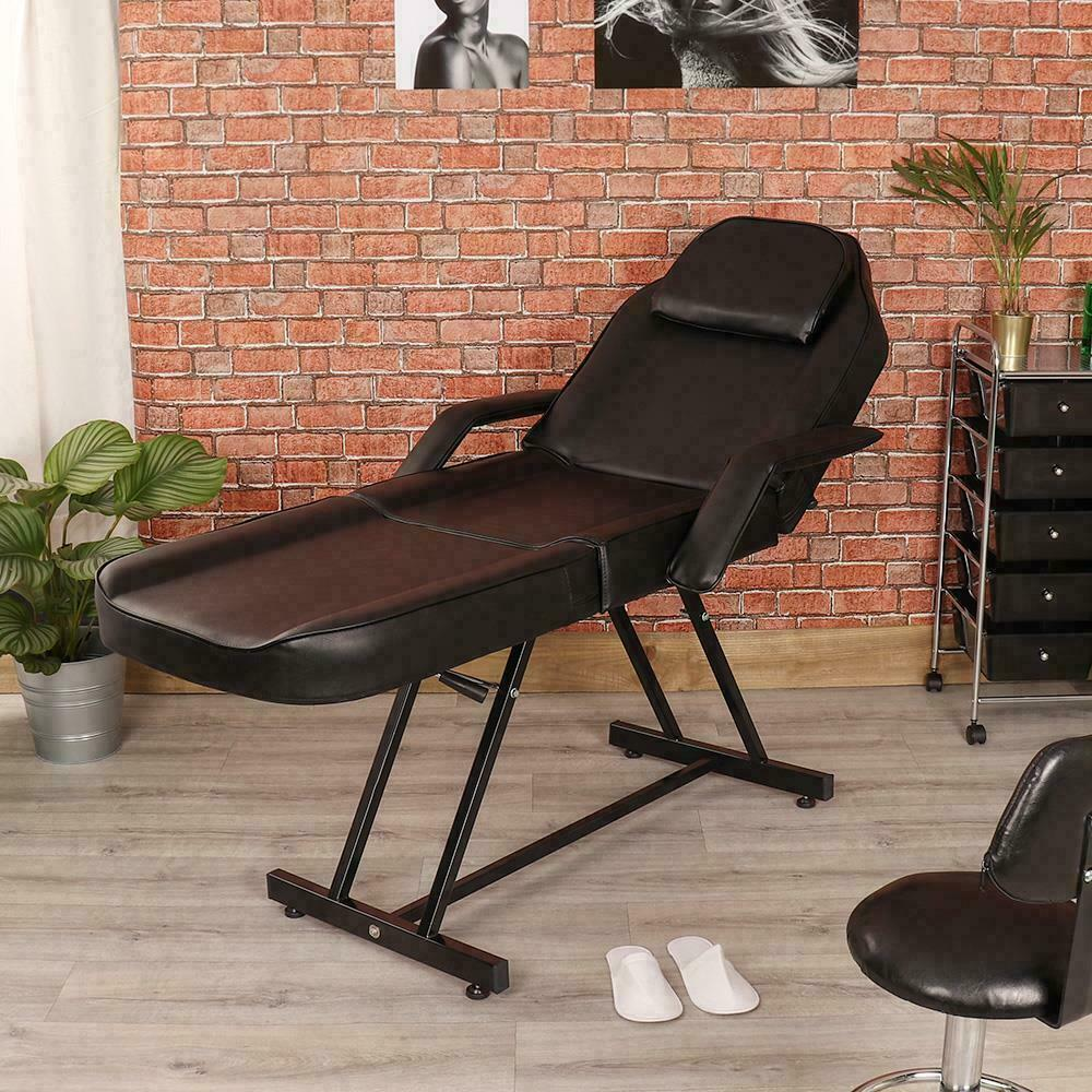 Massage Therapist Chair Wido Manual Black Massage Couch Leather Bed Beauty Therapist Treatment Chair Ebay