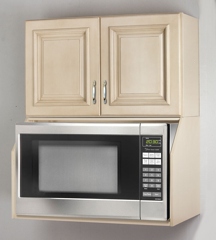 Tuscany White Maple Microwave Oven Wall Cabinet Set  eBay