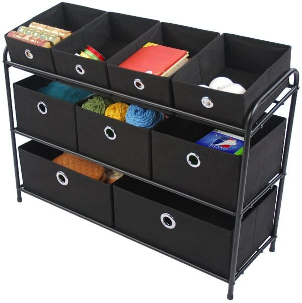 Multi Bin Basket Storage Organizer Cabinet Box Rack Shelf Toy Tool Office Dorm