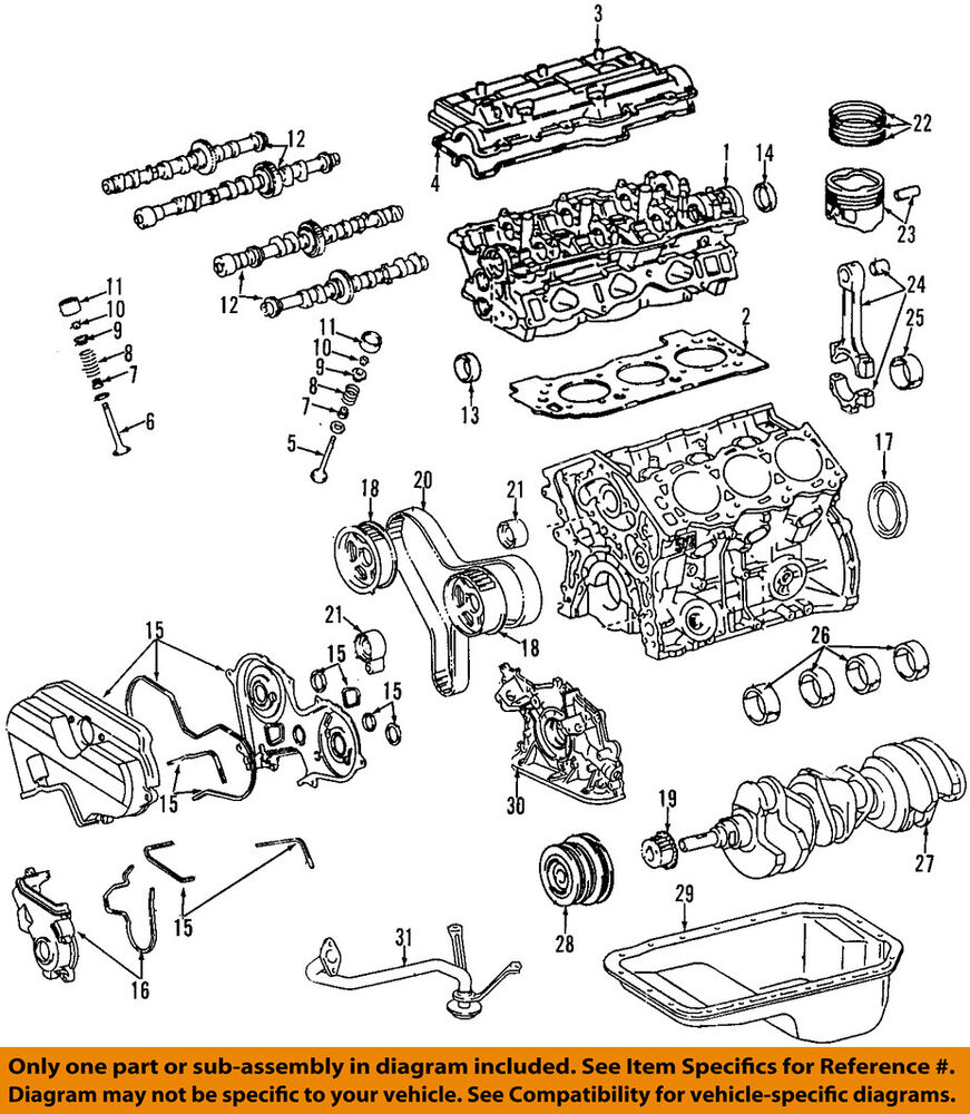 hight resolution of toyota oem tacoma engine cylinder head gasket ebay com engine lifter diagram ford head exploded view 3vze