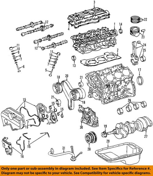 small resolution of toyota oem tacoma engine cylinder head gasket ebay com engine lifter diagram ford head exploded view 3vze