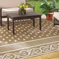 Outdoor Rug 9x12 Indoor Patio Deck Camper Beach Mat ...