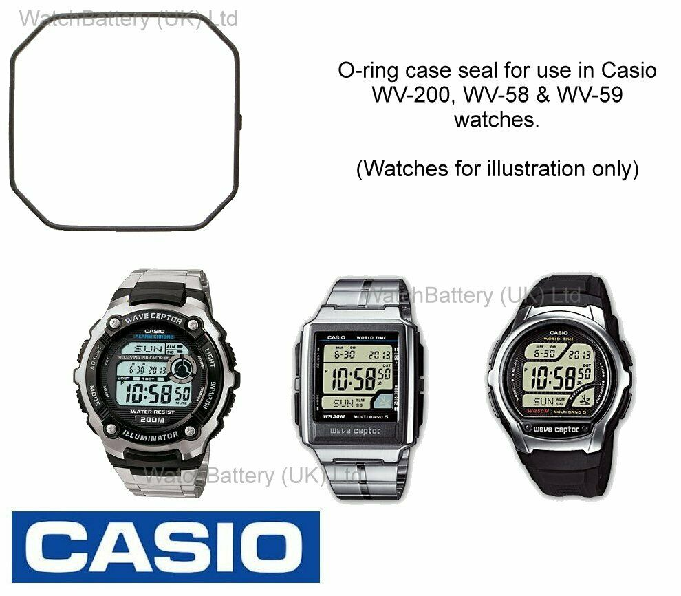 Genuine Casio Watch Back O-ring Seal for WV-200, WV-58 and